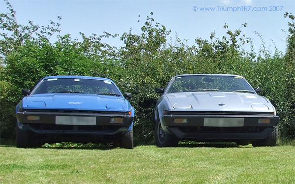 Two Triumph TR7s at the Tollemache, Harrington